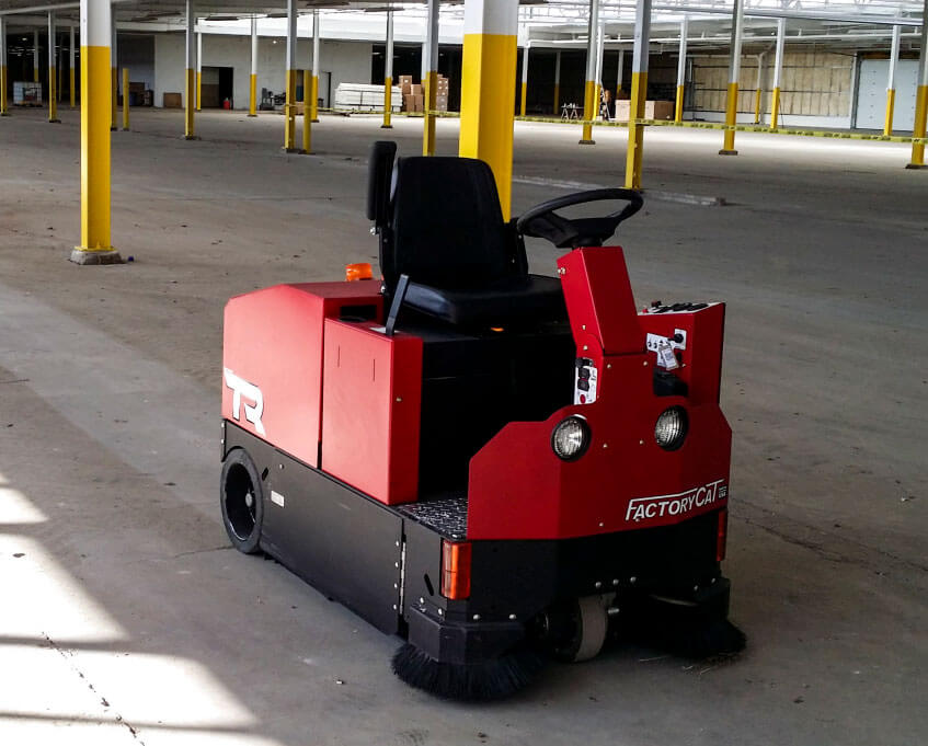 FactoryCat TR ride on sweeper