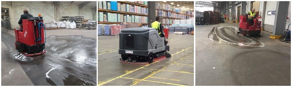 floor cleaning machine demo montage