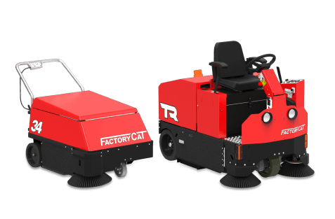 ride on and walk behind floor sweeper