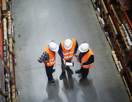 staff in warehouse