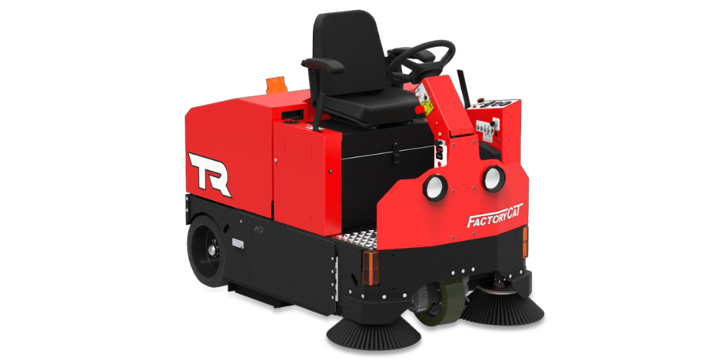 warehouse cleaning equipment ride on floor sweeper