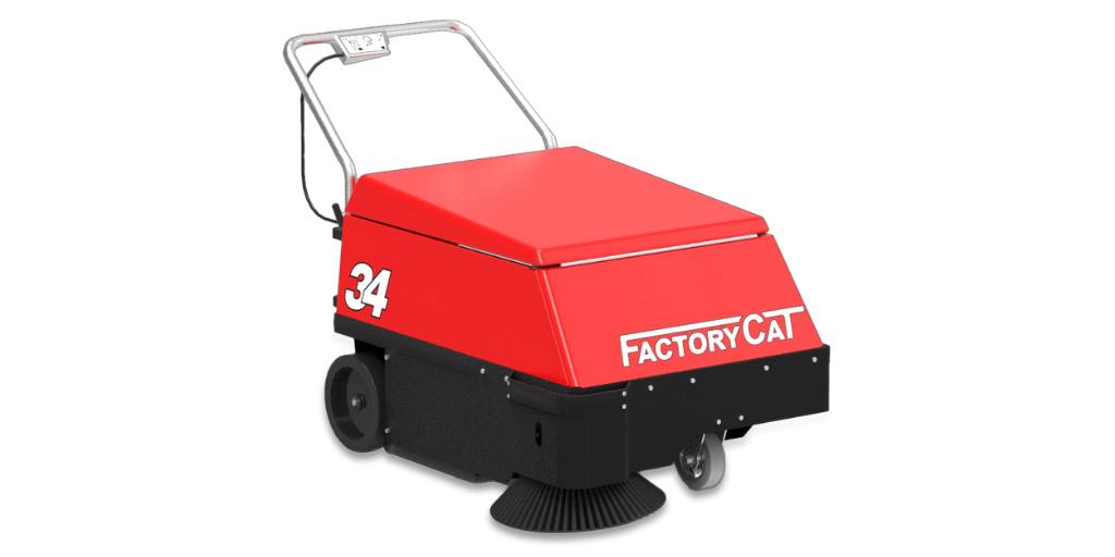 warehouse cleaning equipment walk-behind floor sweeper